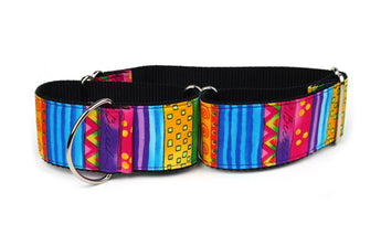 Happy Go Lucky Stripe Greyhound Collar