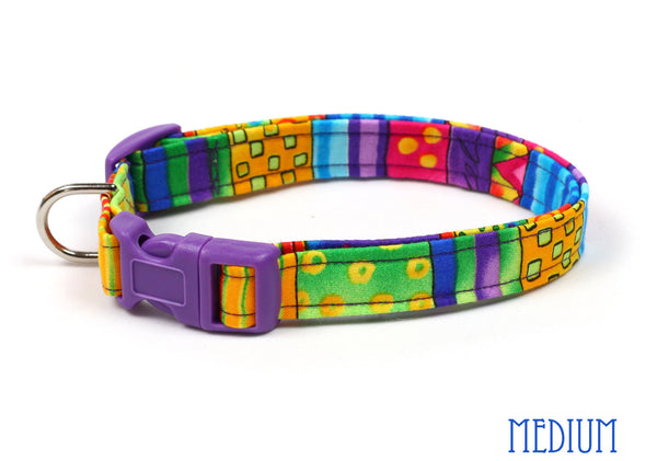Happy Go Lucky Stripe Dog Collar