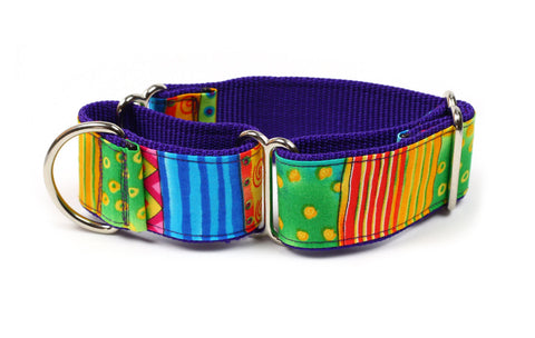 Happy Go Lucky Stripe Whippet Collar