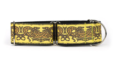 Celtic Knot in Yellow and Brown Greyhound Collar