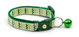 Shamrock Chevrons Cat Collar