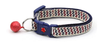 Antique Flag Chevrons Cat Collar
