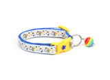 Unicorns and Rainbow Stars on White Cat Collar