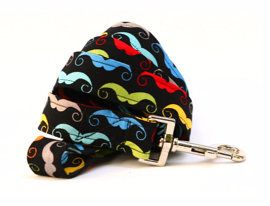 Dapper Dog Bright Mustaches Leash