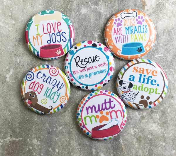 Rescue Dog Mom Magnets