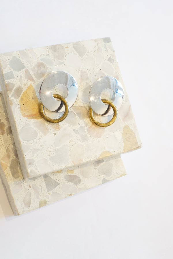 Amie Two Tone Earrings