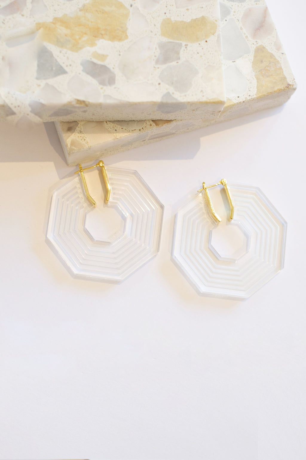 Karyn Stripe Hoops