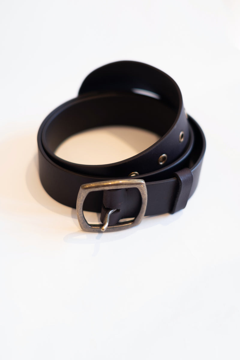 Brown - Leather Belt Front View 1