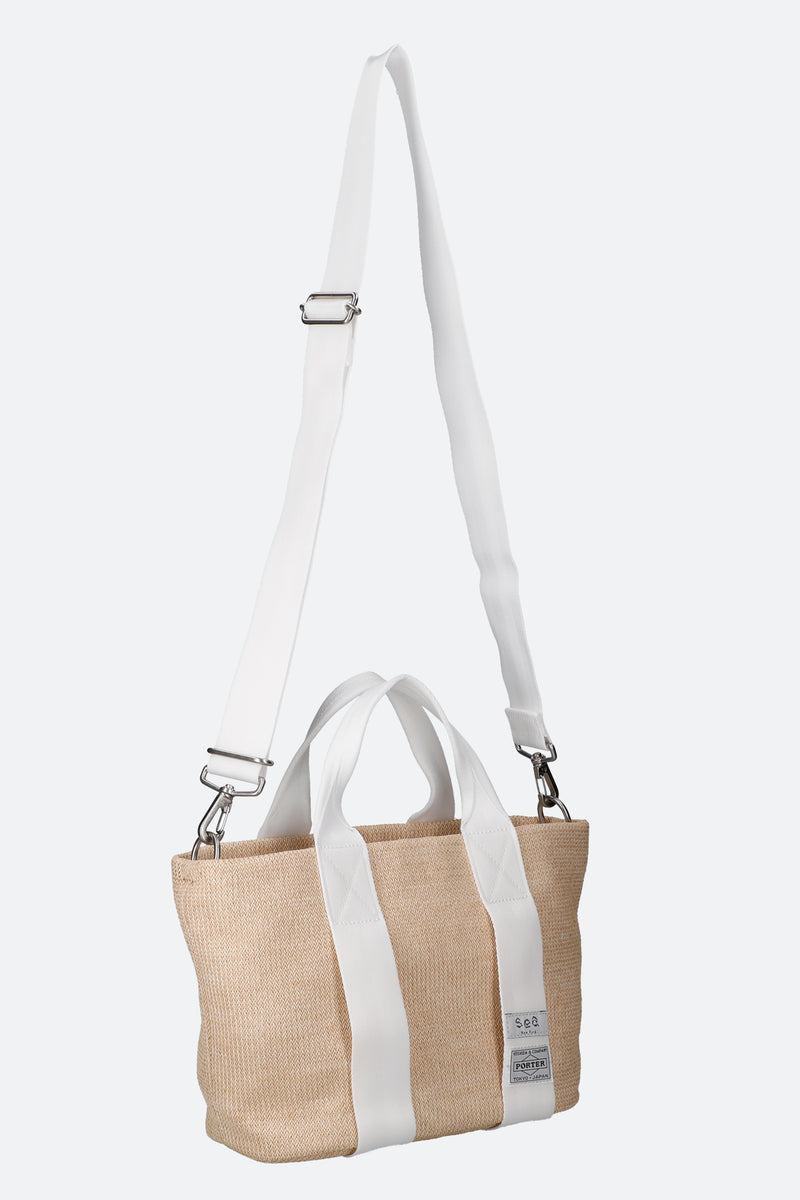 Natural-Mini Mon Tote-Strap View 4