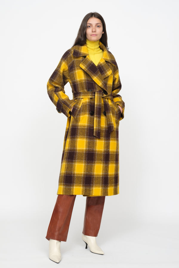 Amber Plaid Coat