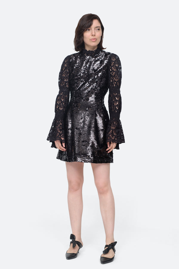 Sequined L/S Dress