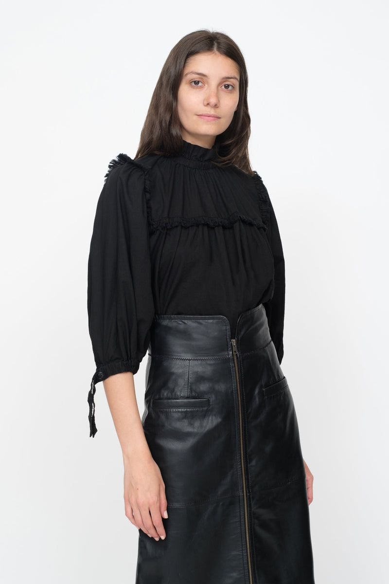 Black - Marlene Blouse Front View 9