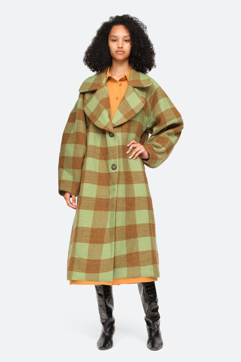 Apple-Clement Coat-Front Buttoned View 4
