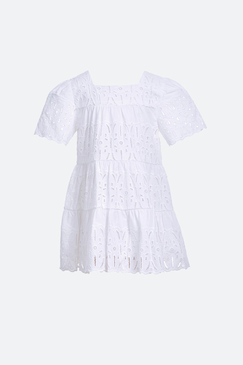 White_Iris Kids Dress_Flat View 1