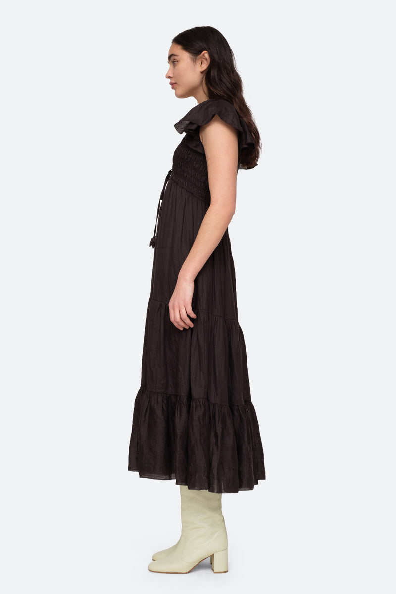 Black-Zig Zag Maxi-Side View 3