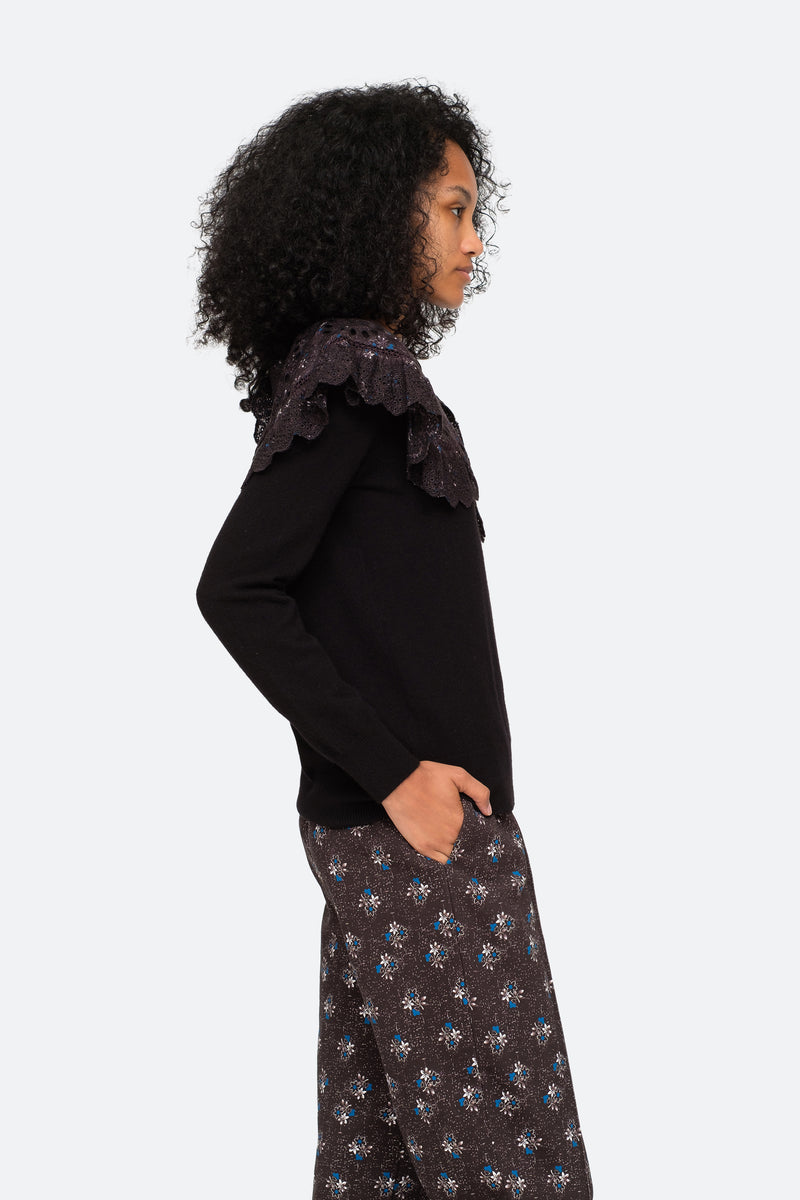 Black-Ditsy Sweater-Side View 3