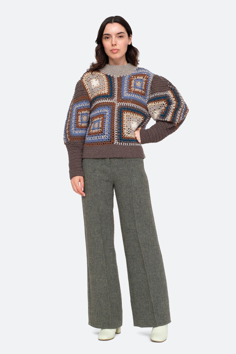 Brown-Farrah Sweater-Full Body View 4