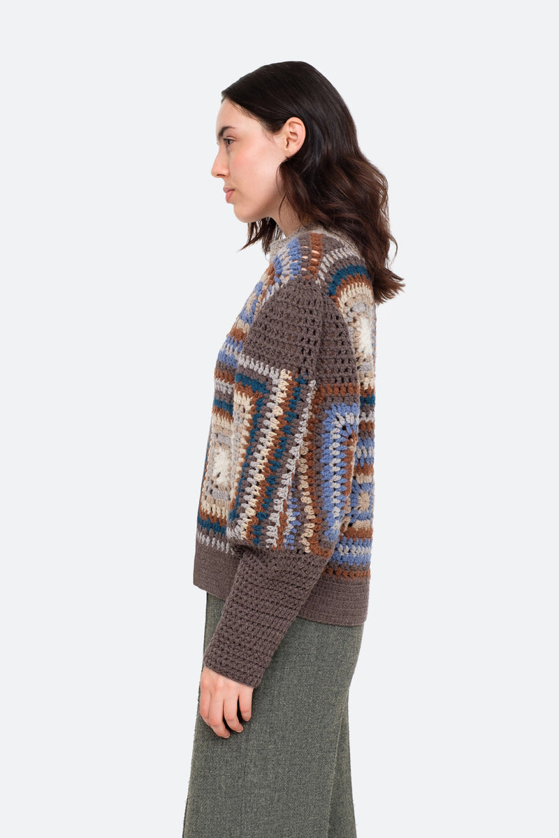 Brown-Farrah Sweater-Side View 3