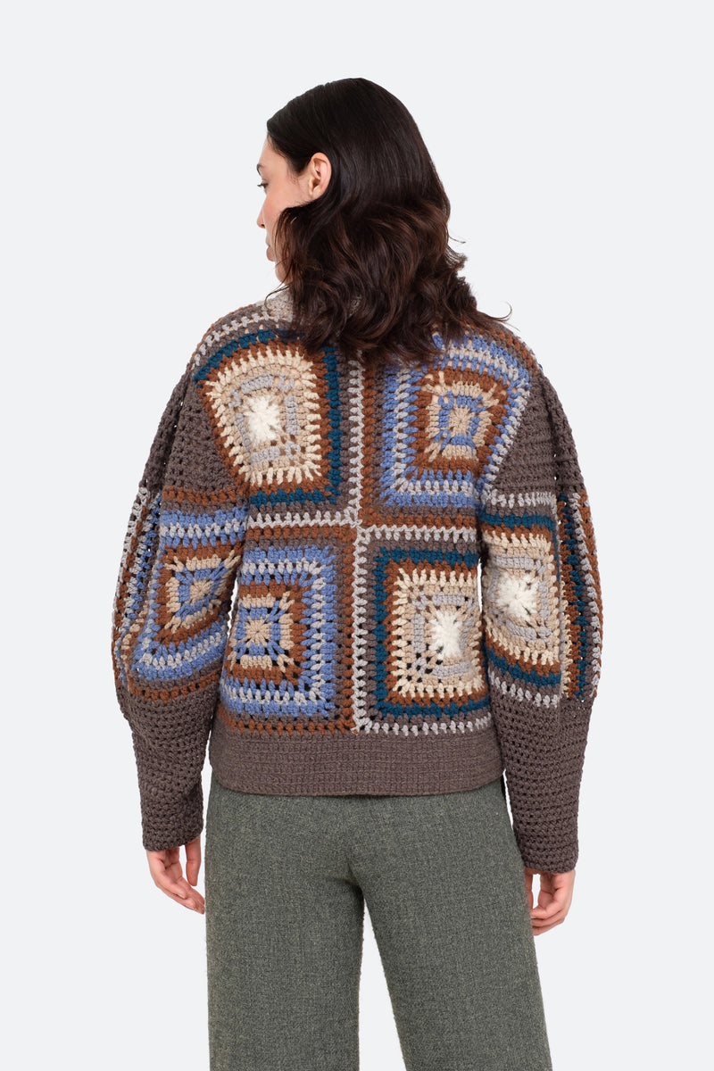 Brown-Farrah Sweater-Back View 2