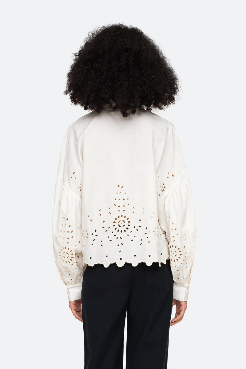 Cream-Fern Shirt-Back View 7