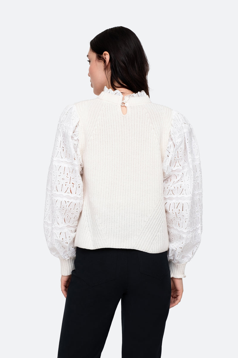 Cream-Iris Sweater-Back View 2
