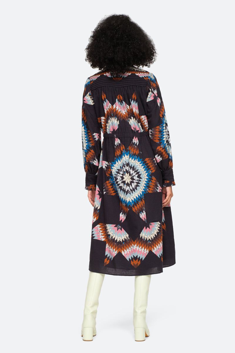 Multi-Lindstrom L/S Dress-Back View 2