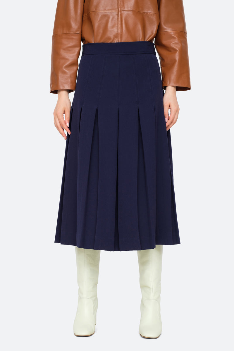 Navy-Lucien Skirt-Front View 1