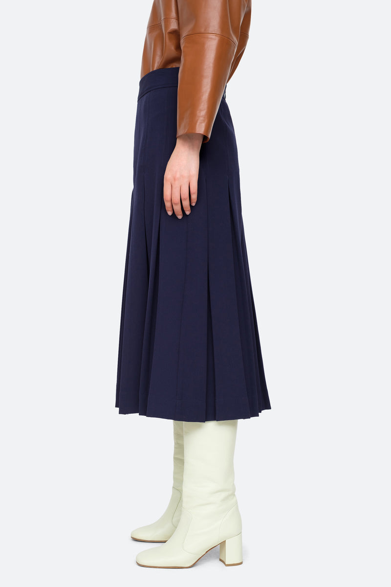 Navy-Lucien Skirt-Side View 3
