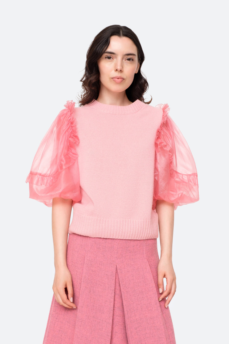 Pink-Nuria Sweater-Tucked Out View 5