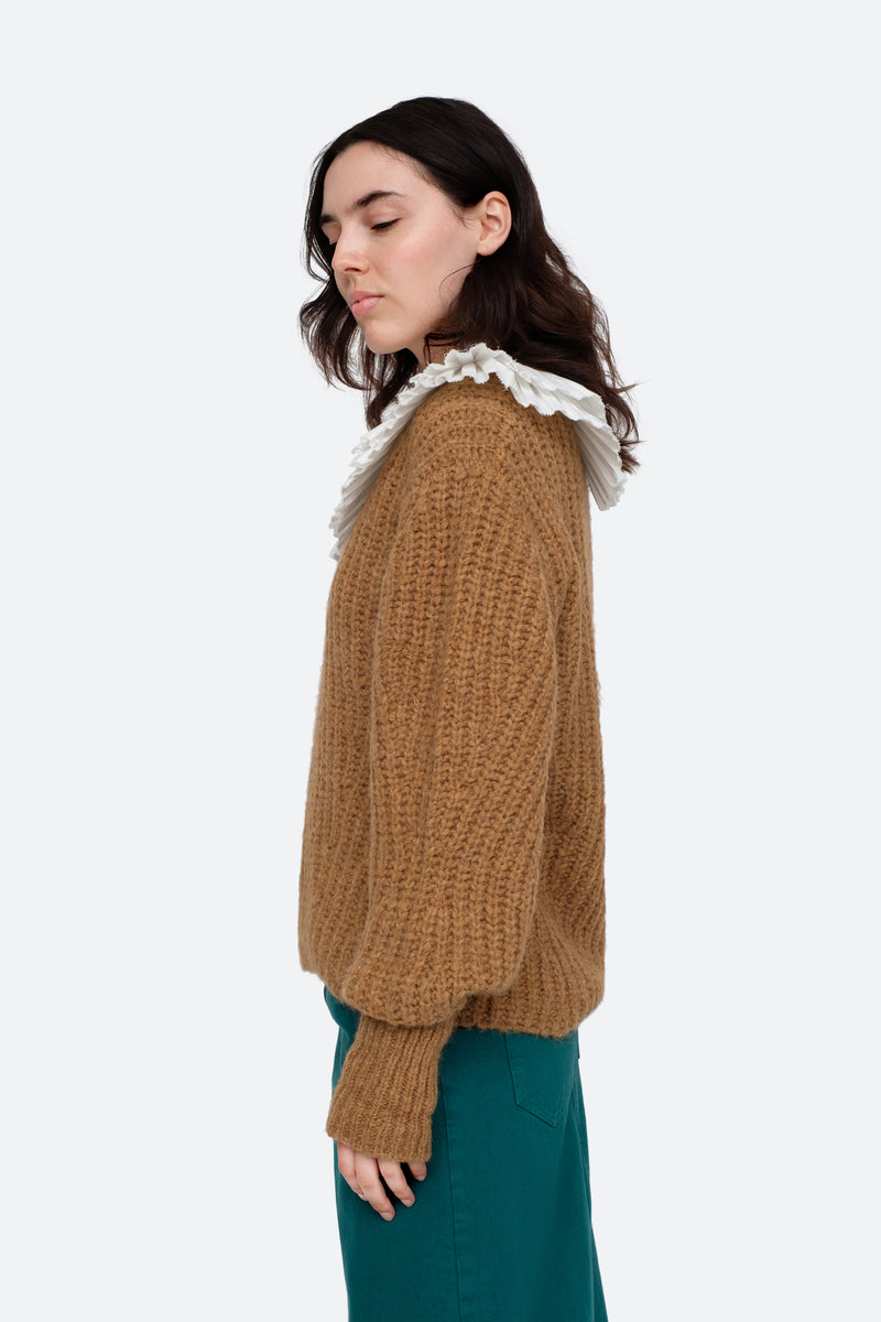 Khaki-Octavia Sweater-Side View 3