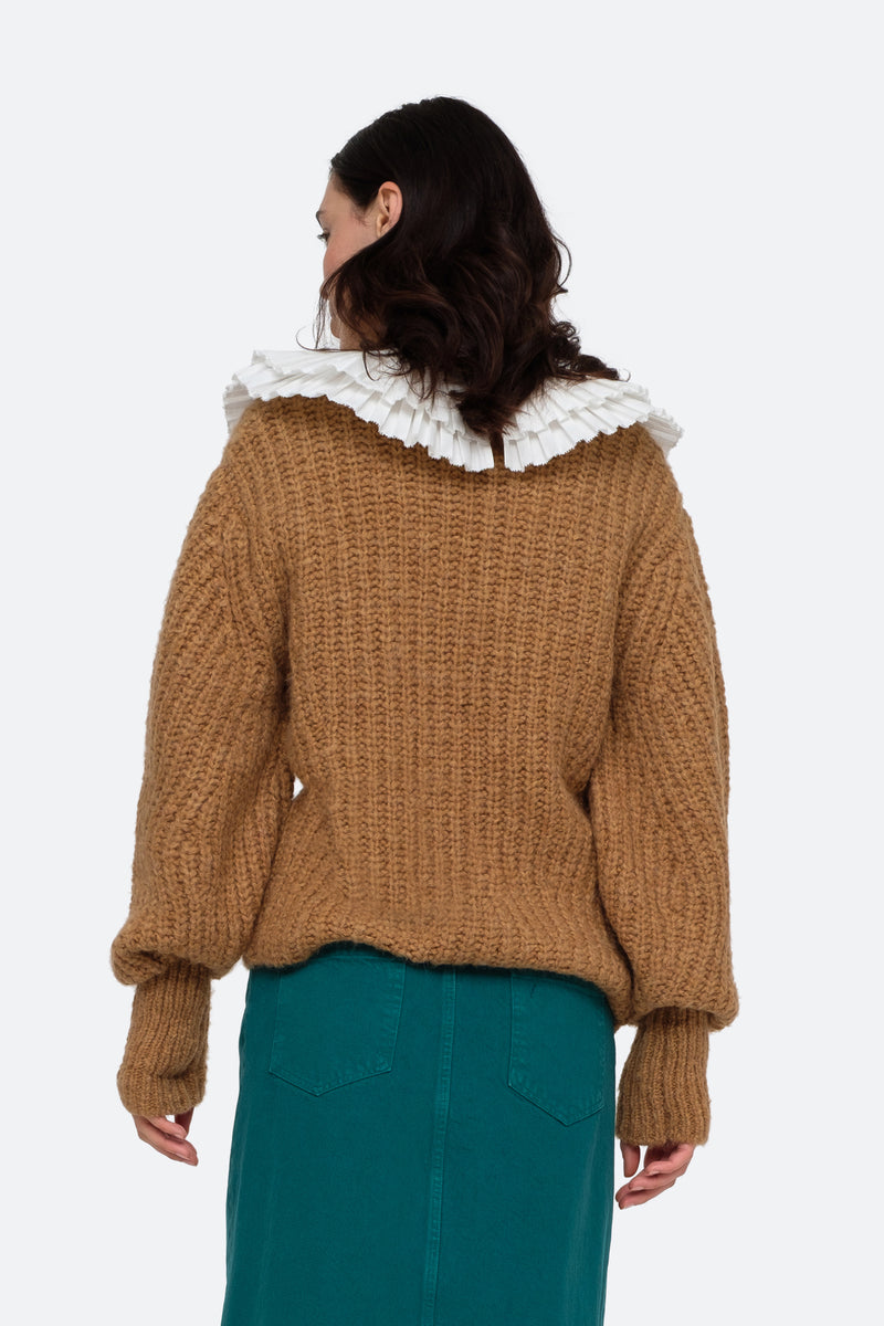 Khaki-Octavia Sweater-Back View 2