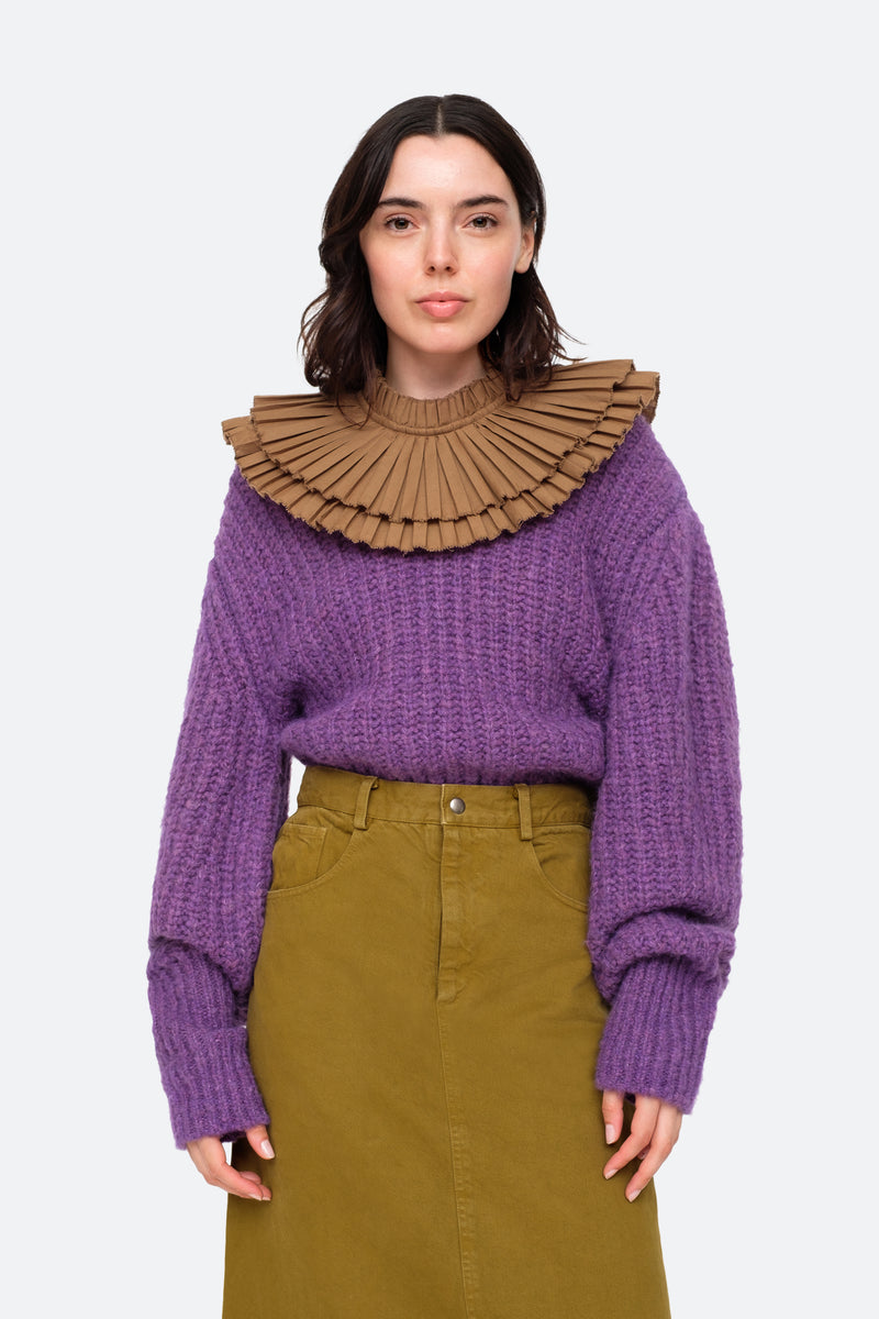 Purple-Octavia Sweater-Front View 9