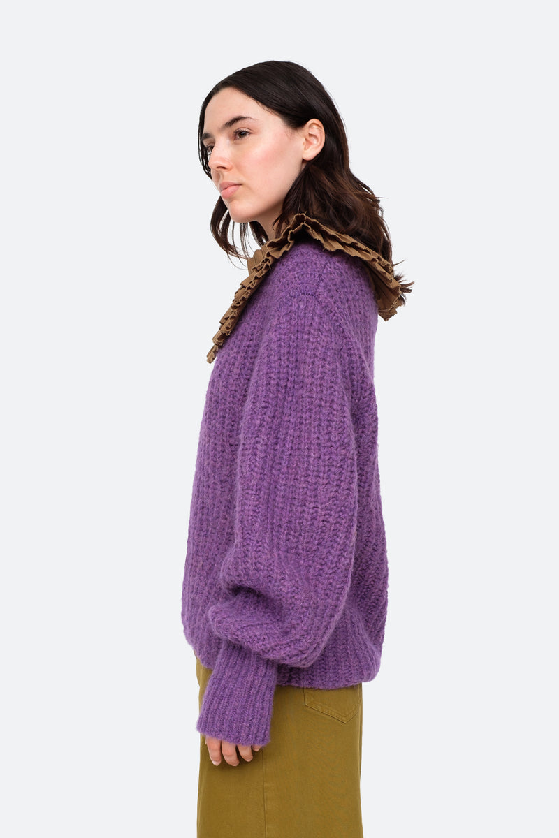 Purple-Octavia Sweater-Side View 8
