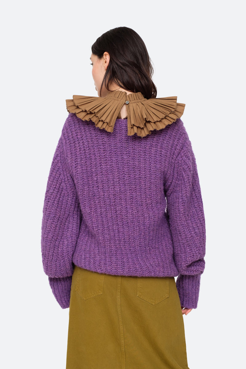 Purple-Octavia Sweater-Back View 7