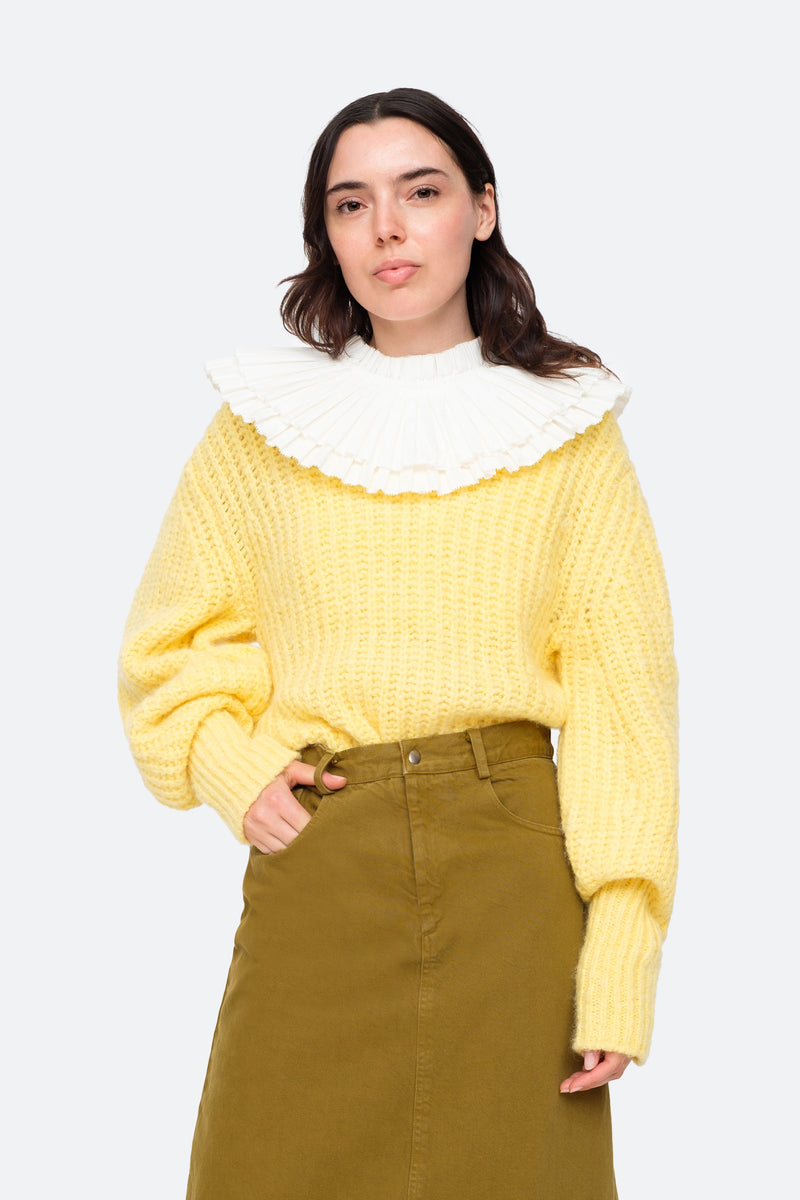 Yellow-Octavia Sweater-Front View 11