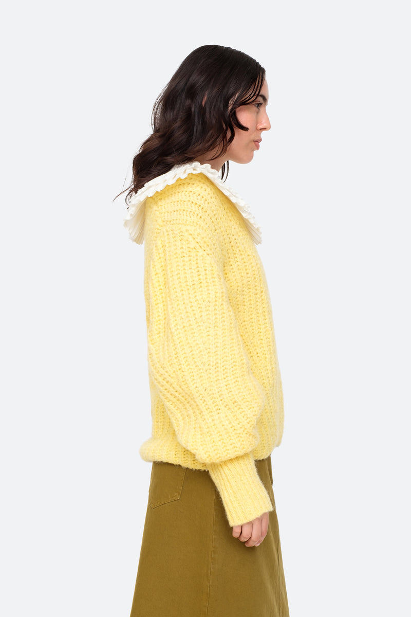 Yellow-Octavia Sweater-Side View 13