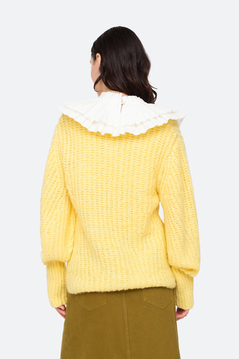 Yellow-Octavia Sweater-Back View 12