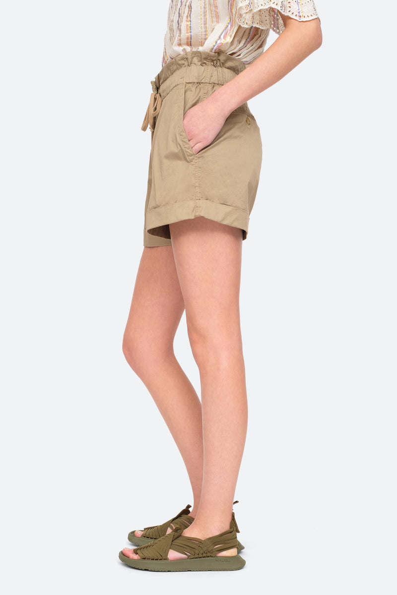 Khaki - Giselle Shorts Side View 4
