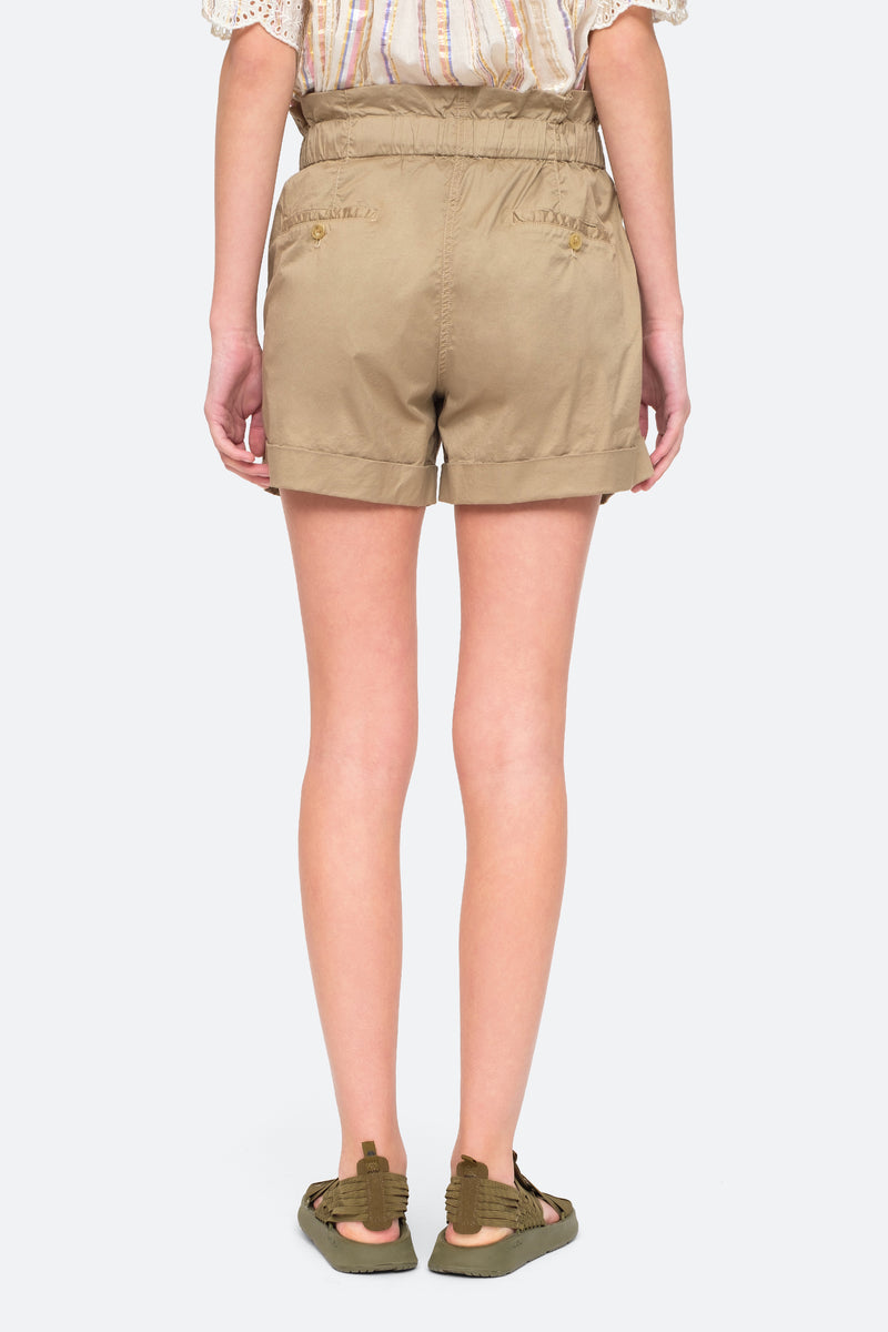 Khaki - Giselle Shorts Back View 3