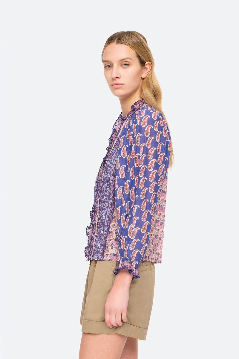 Violet - Bianca Blouse Side View 4