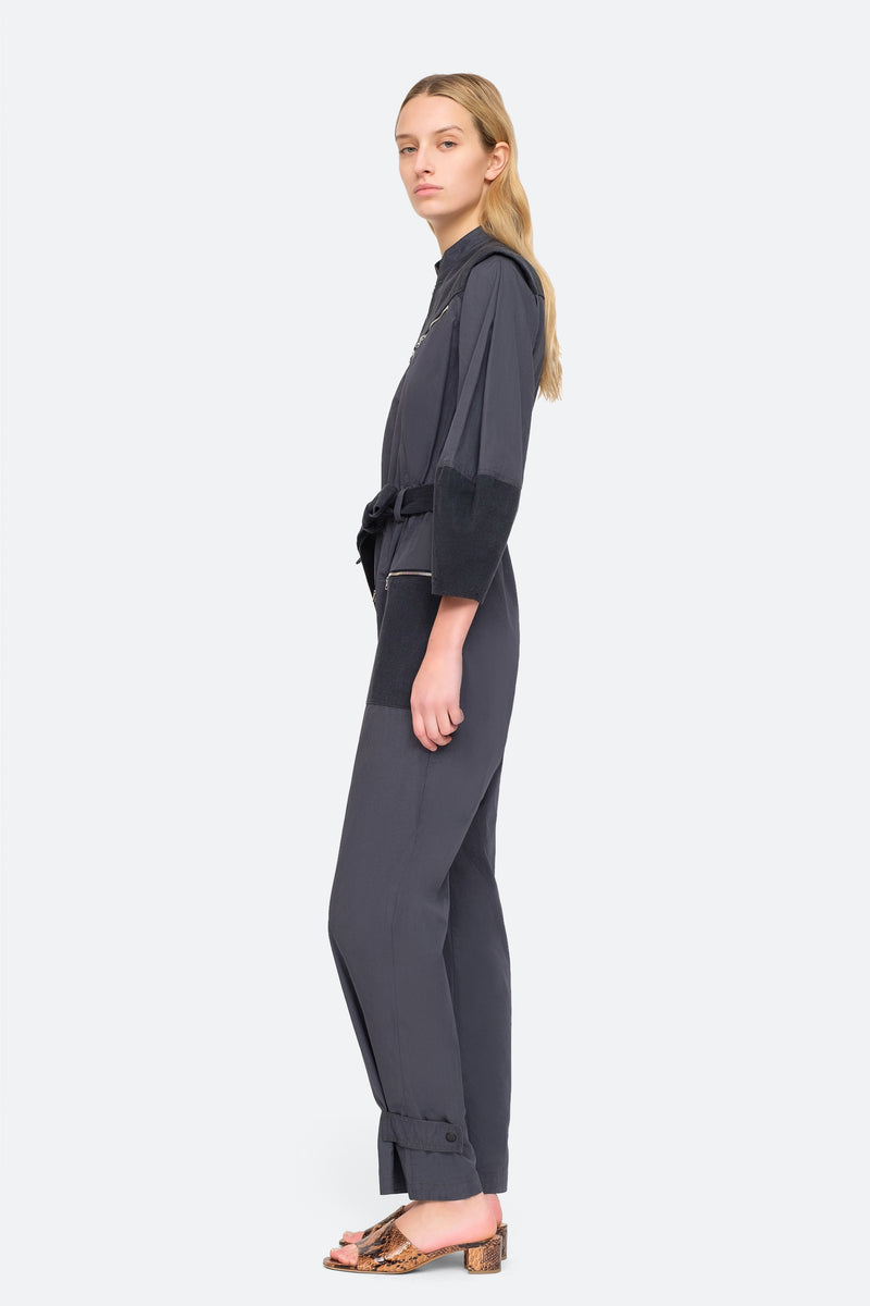 Charcoal - Gabriette Jumpsuit Side View 3
