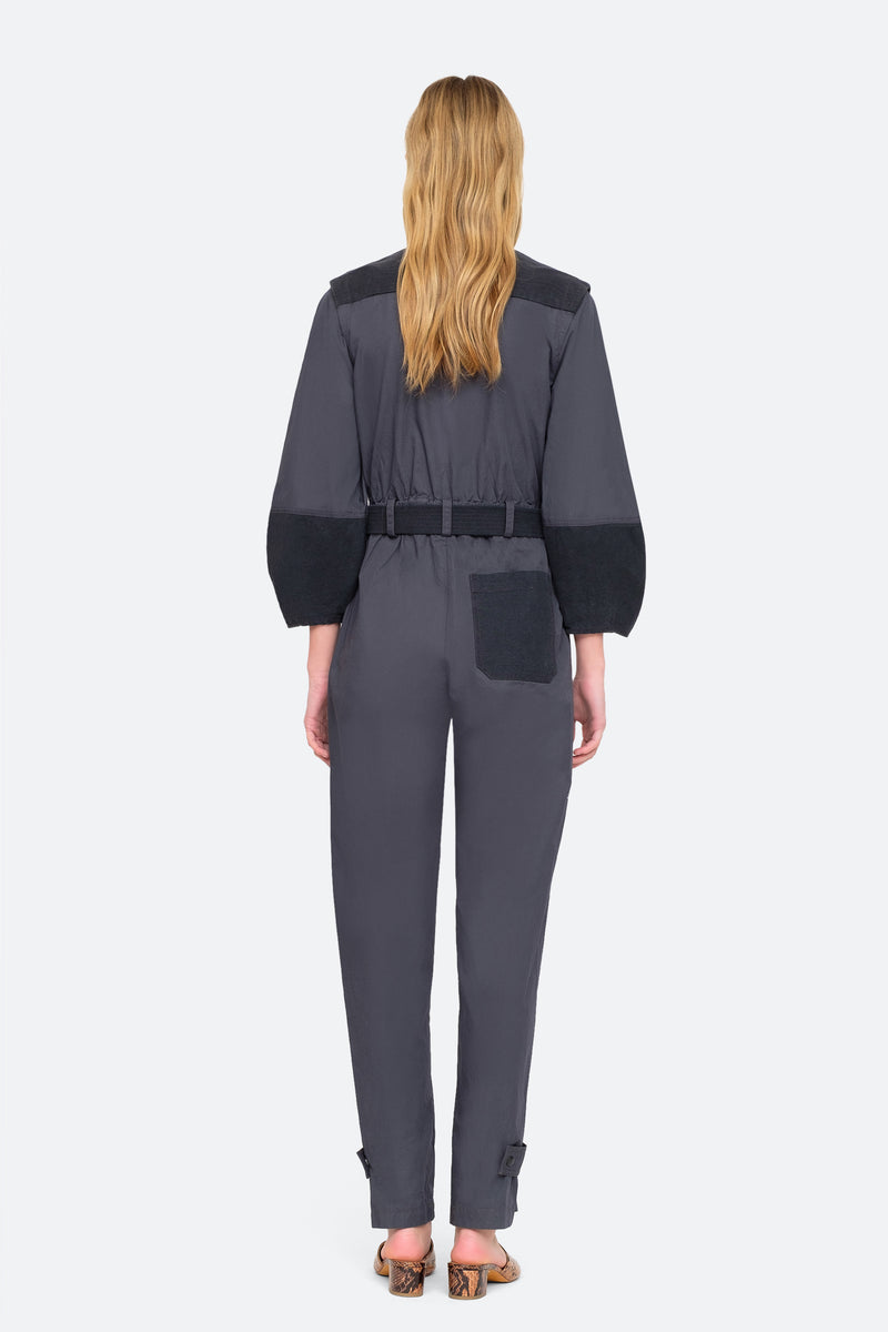 Charcoal - Gabriette Jumpsuit Back View 2