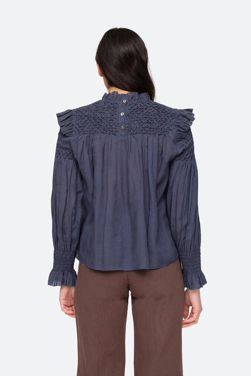 Midnight - Geneva Blouse Back View 7
