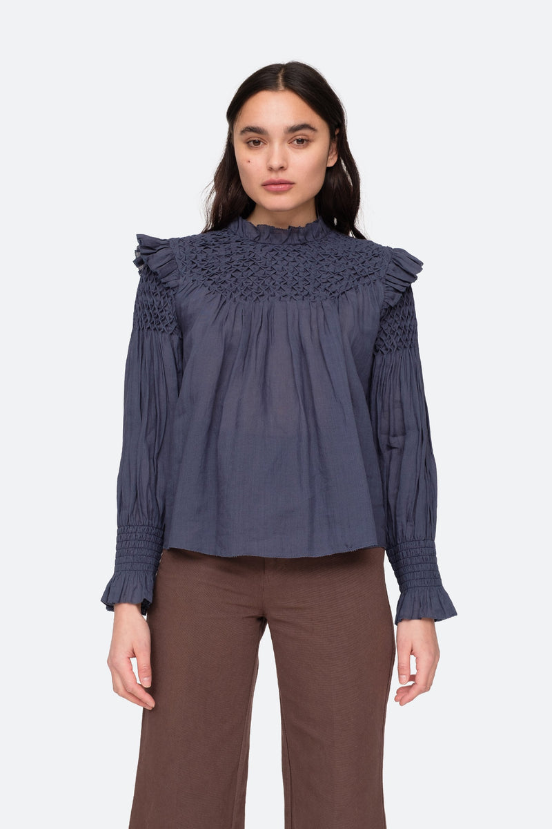 Midnight - Geneva Blouse Front View 6