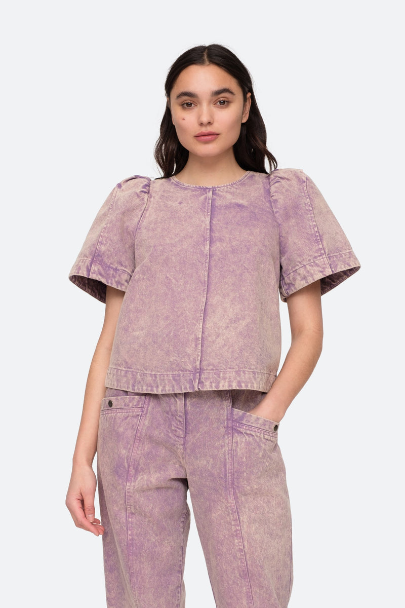 Lilac - Idun Top Front View 1