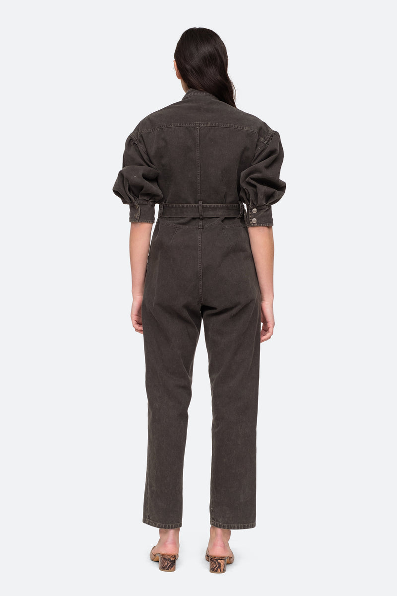 Graphite - Idun LS Jumpsuit Back View 6