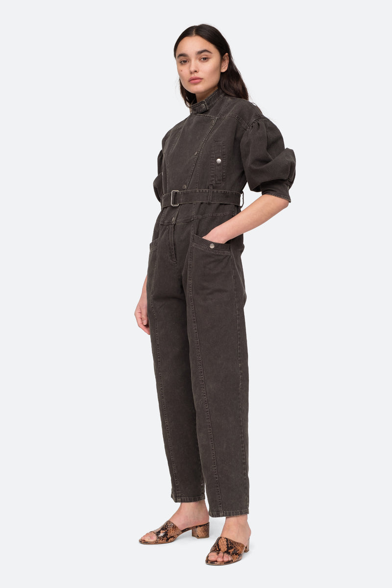 Graphite - Idun LS Jumpsuit Side View 5