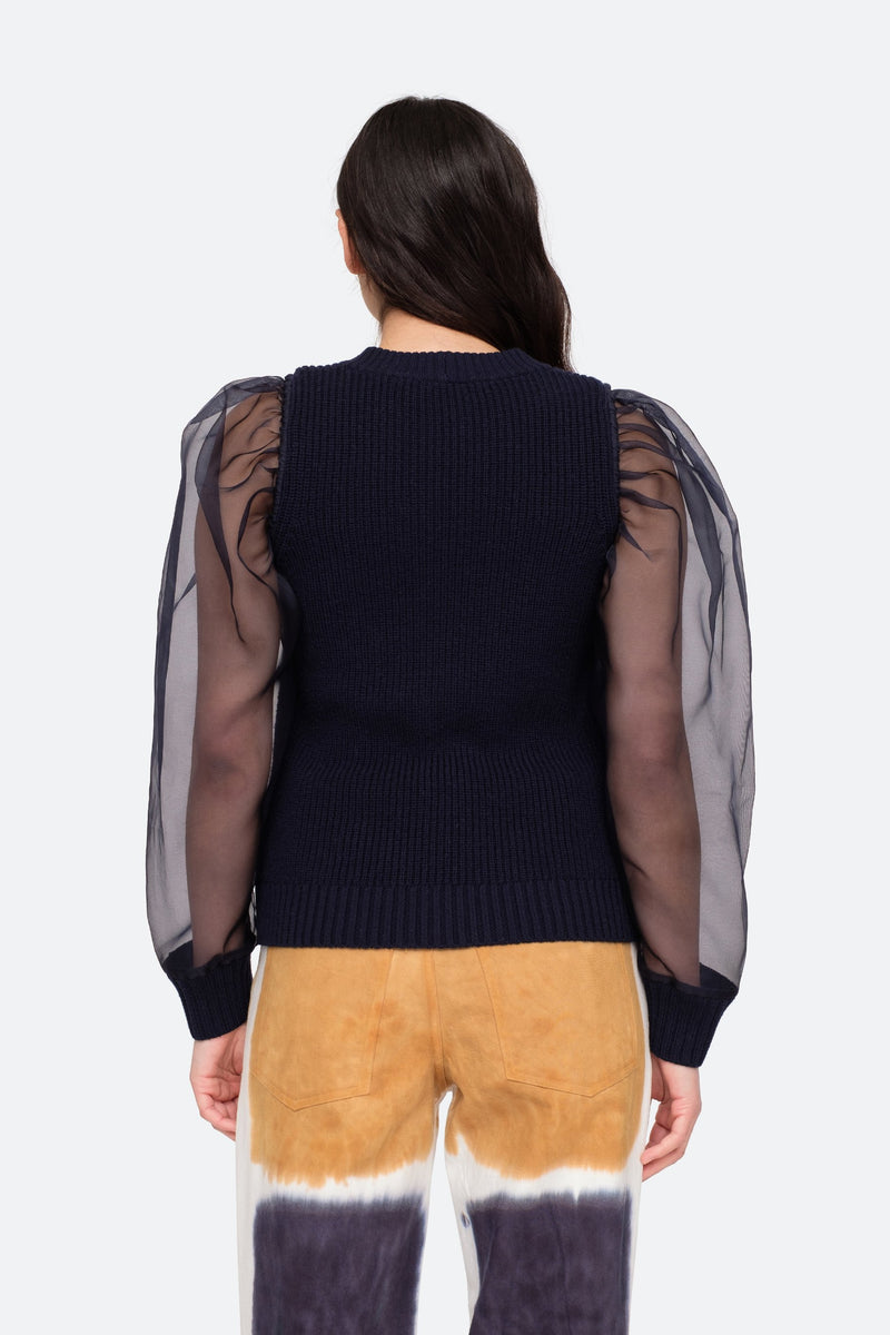 Navy - James Sweater Back View 6