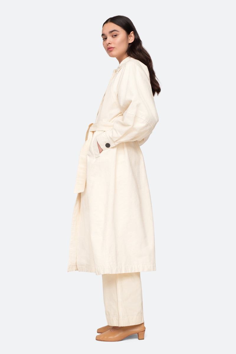 Almond - Alma Coat Side View 3