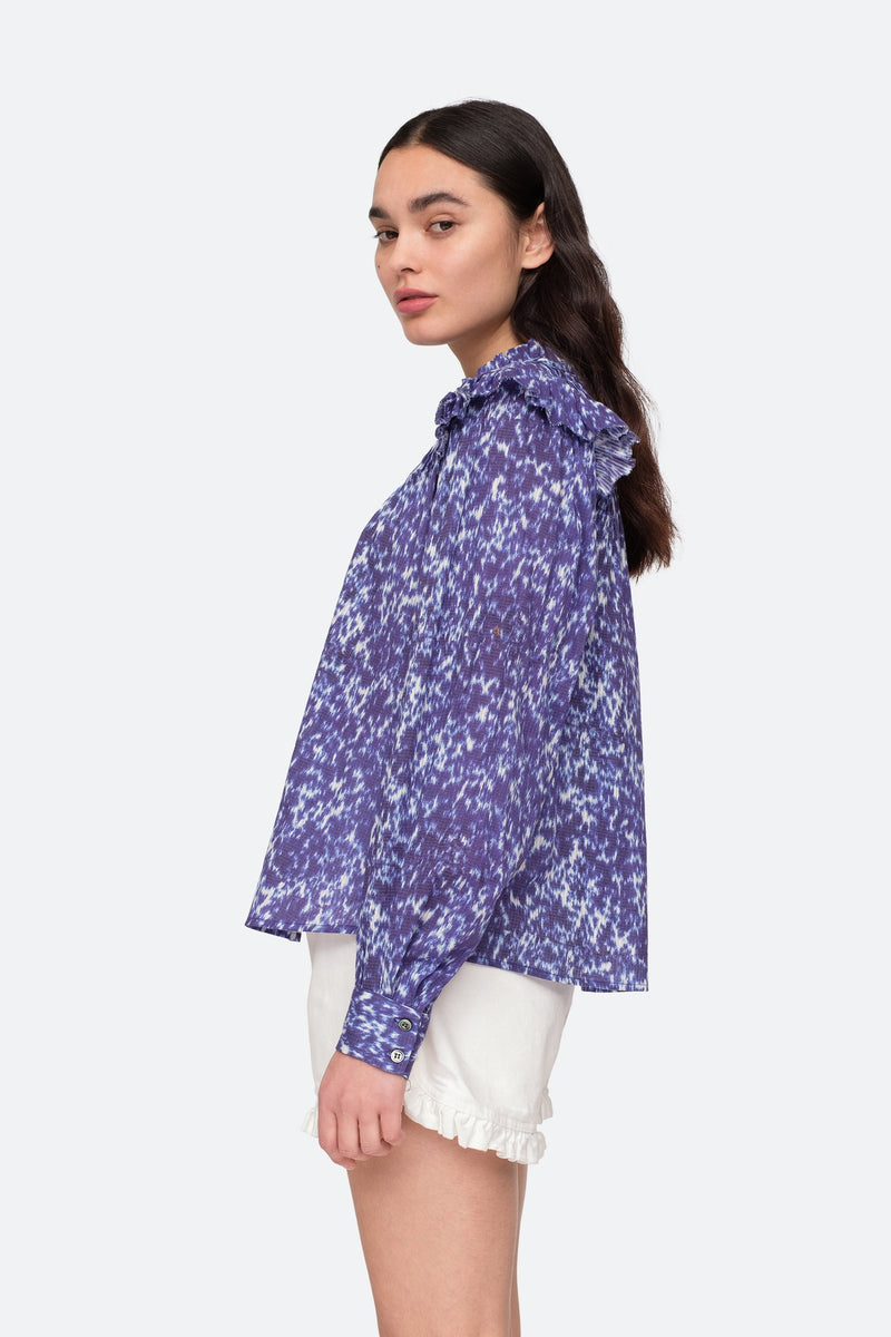 Lapis - Celine Blouse Side View 3
